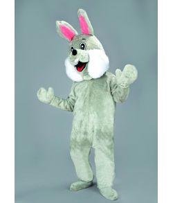Kanin kostume, grå mascot