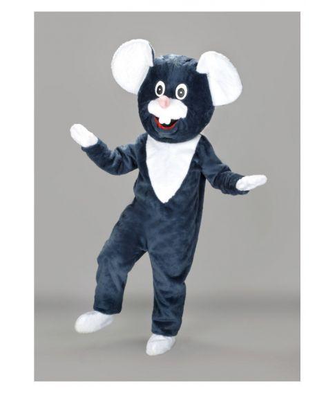 Musekostume, grå mascot