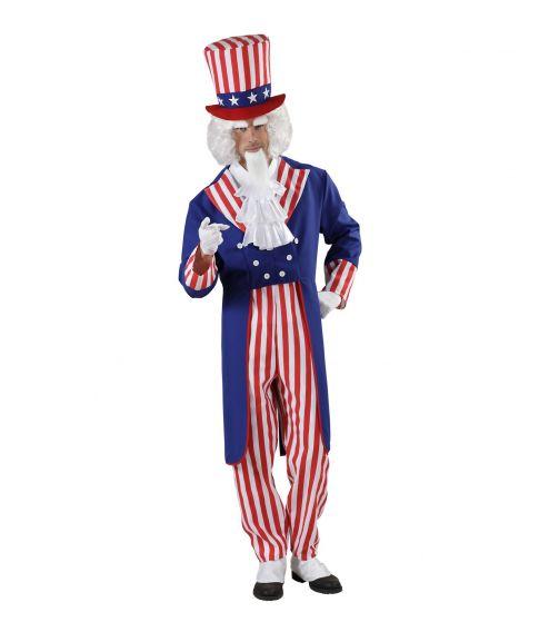 Uncle Sam - USA kostume til voksne