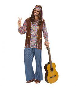 Psychedelic Hippie kostume til mand