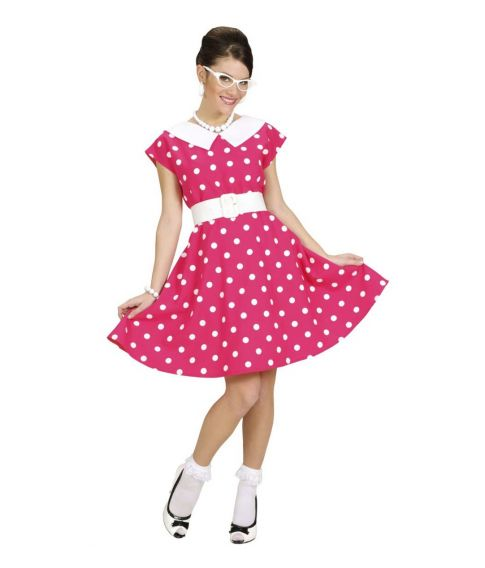 50s Lady kostume, pink