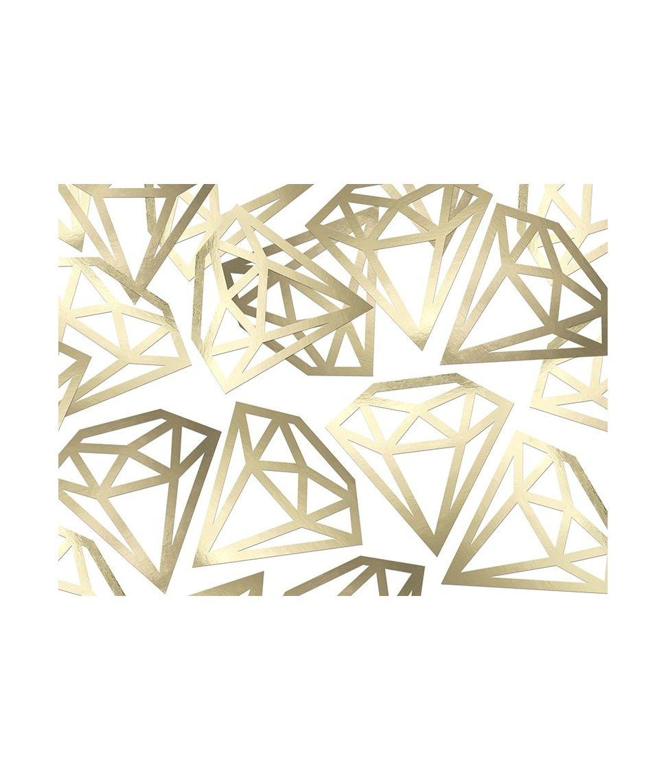 Guld diamant konfetti