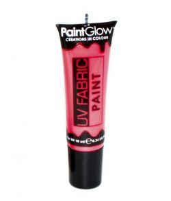 Rød UV maling til tøj
