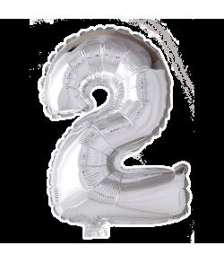 Folie tal ballon sølv 2