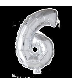 Folie tal ballon sølv 6