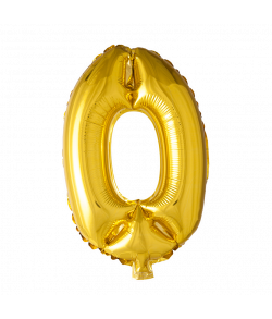 Folie tal ballon guld 0