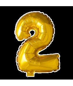 Folie tal ballon guld 2