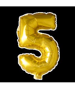 Folie tal ballon guld 5
