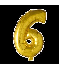 Folie tal ballon guld 6