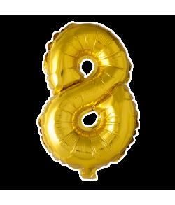 Folie tal ballon guld 8