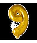 Folie tal ballon guld 9