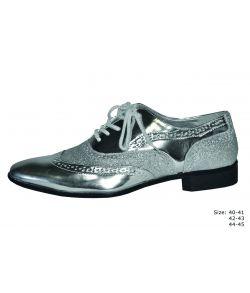 Sølv sko med glimmer