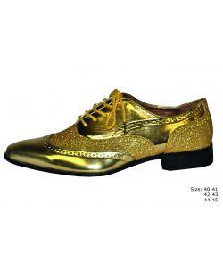 Guld sko med glimmer