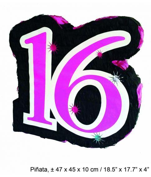 16 års fest Sjov pinata til 16 års fødselsdag. 16 års fest