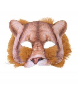 Løve halvmaske med pels