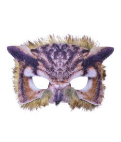 Ugle halvmaske med pels