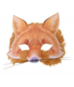 Ræve halvmaske med pels