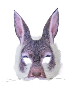 Kanin halvmaske med pels