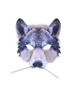 Ulve halvmaske med pels