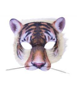 Tiger halvmaske med pels