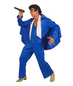 Elvis kostume, blå