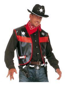 Sort Cowboyvest til voksne