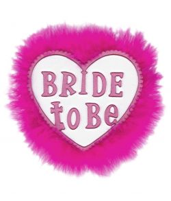 Hvid bride to be broche