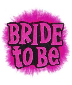 Sort Bride to be broche polteraben
