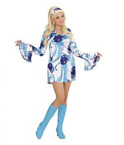 70' chick kostume, blå