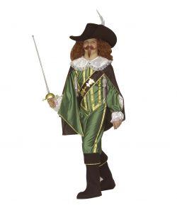 Grønt Musketer kostume til børn