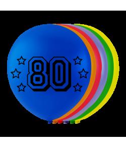 Balloner med tal - 80