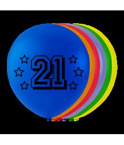 Balloner med tal - 21
