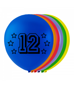 Balloner med tal - 12