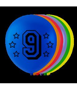 Balloner med tal - 9
