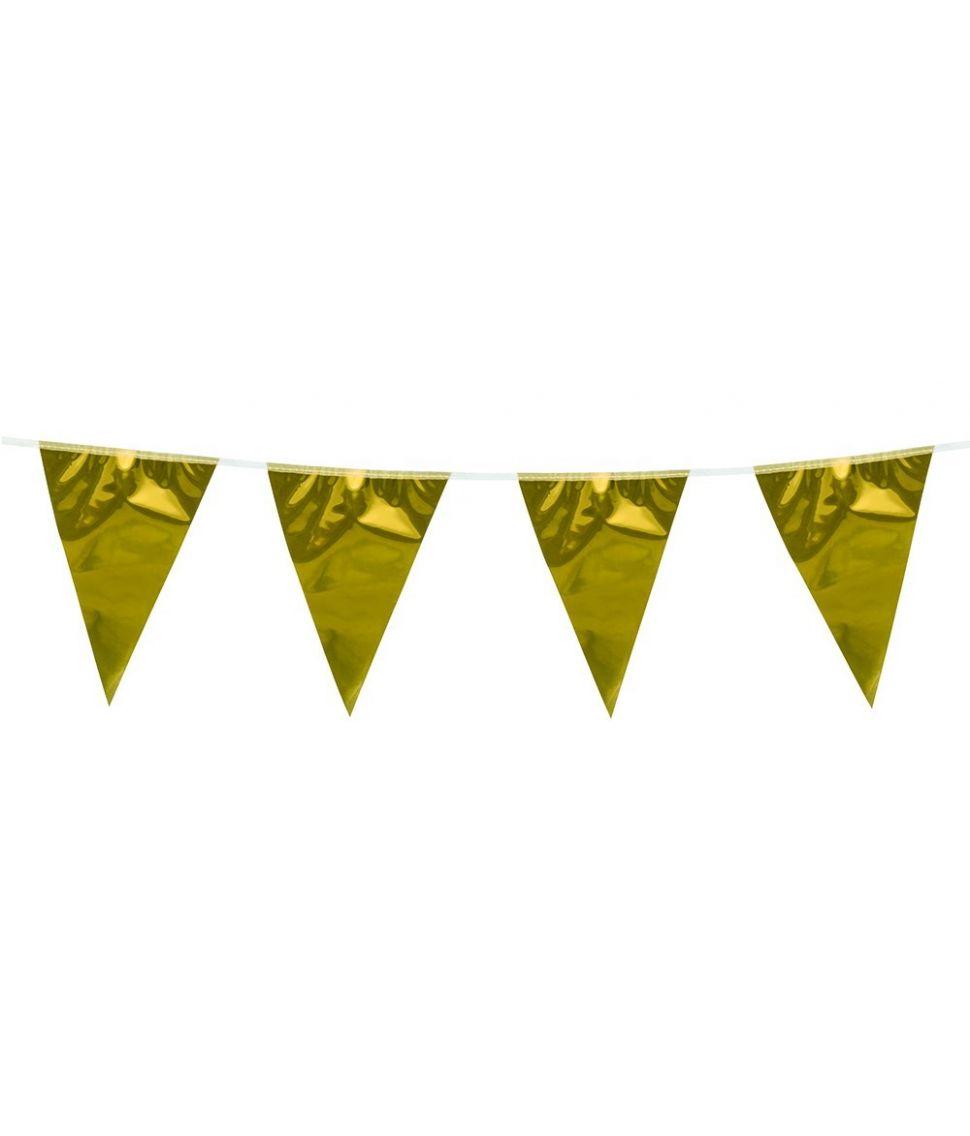 Stor guld vimpelguirlande
