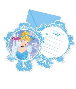 Askepot invitationer 6 stk