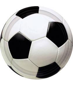 Fodbold tallerkner 17,8 cm