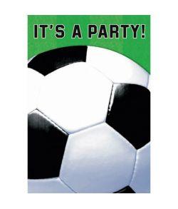 Fodbold invitationer 8 stk