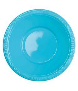 Plastik skåle lyseblå 10 stk