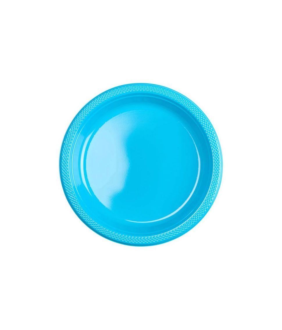Lyseblå tallerkner til barnedåb