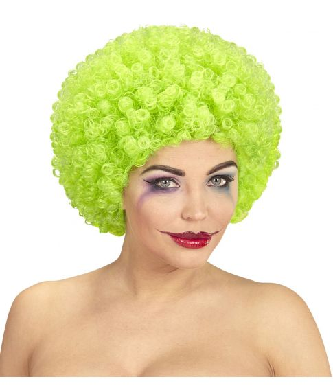 Billig Neongrøn afroparyk