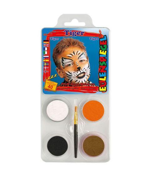 Tiger sminkepalette fra Eulenspiegel.