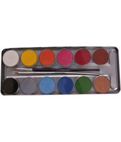 Eulenspiegel metaletui med 12 farver