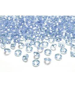Diamand konfetti lyseblå 100stk
