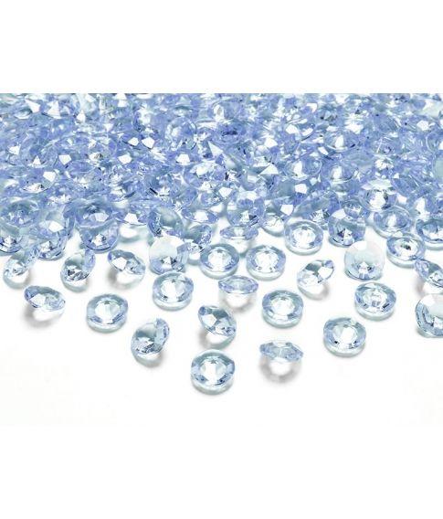 Diamant konfetti lyseblå 100stk