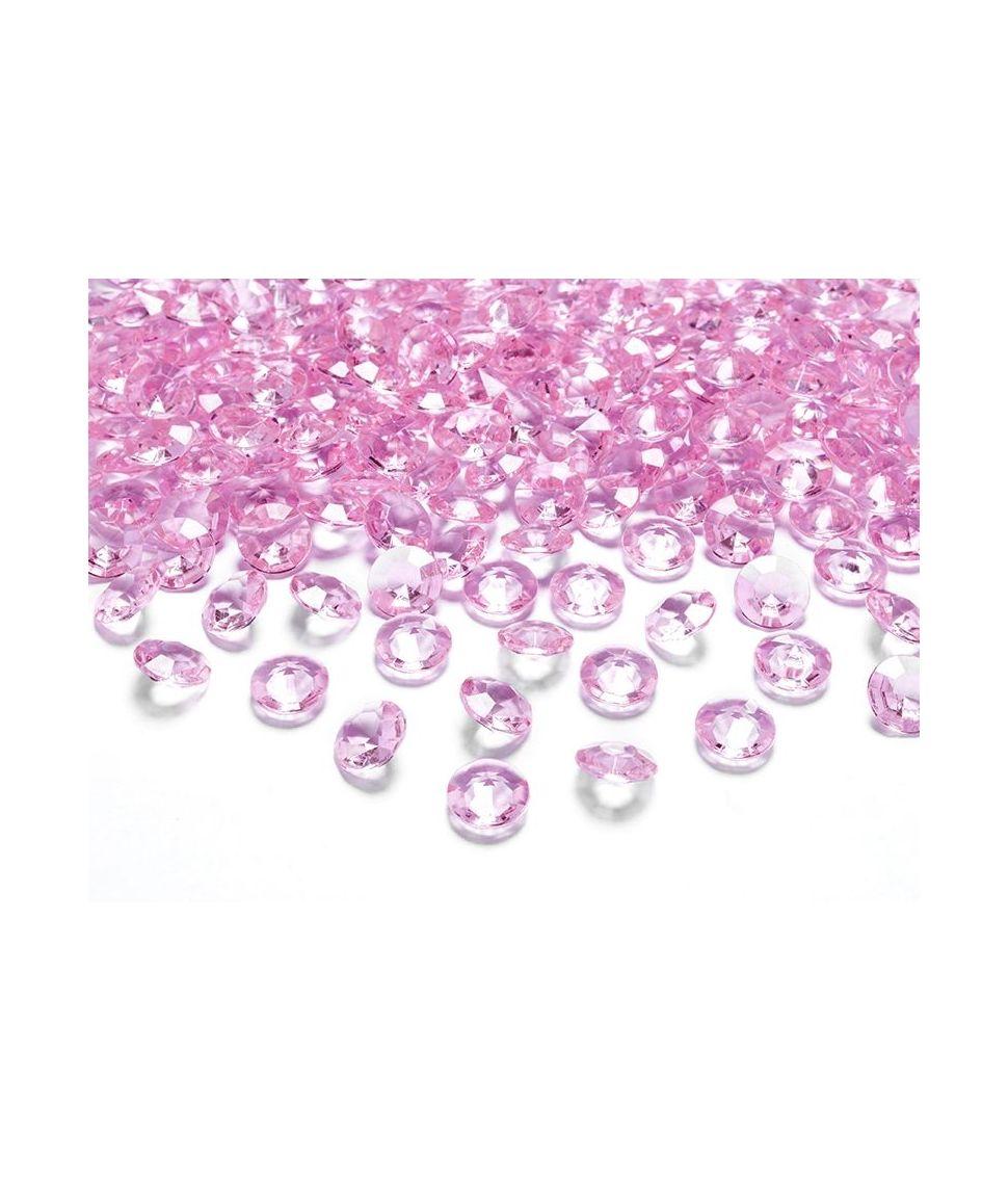 Lyserød Diamanter 12 mm 100 stk