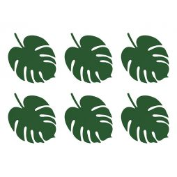Bordkort palmeblad 6 stk
