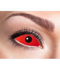 Rød Sclera linse