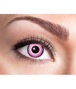 Pink konttaktlinser til udklædning