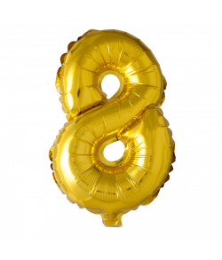 Folie ballon guld 41 cm 8